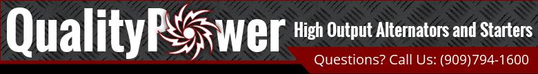 high output alternator,chrome alternator,Odyssey battery,high torque starter,high amp replacement alternators