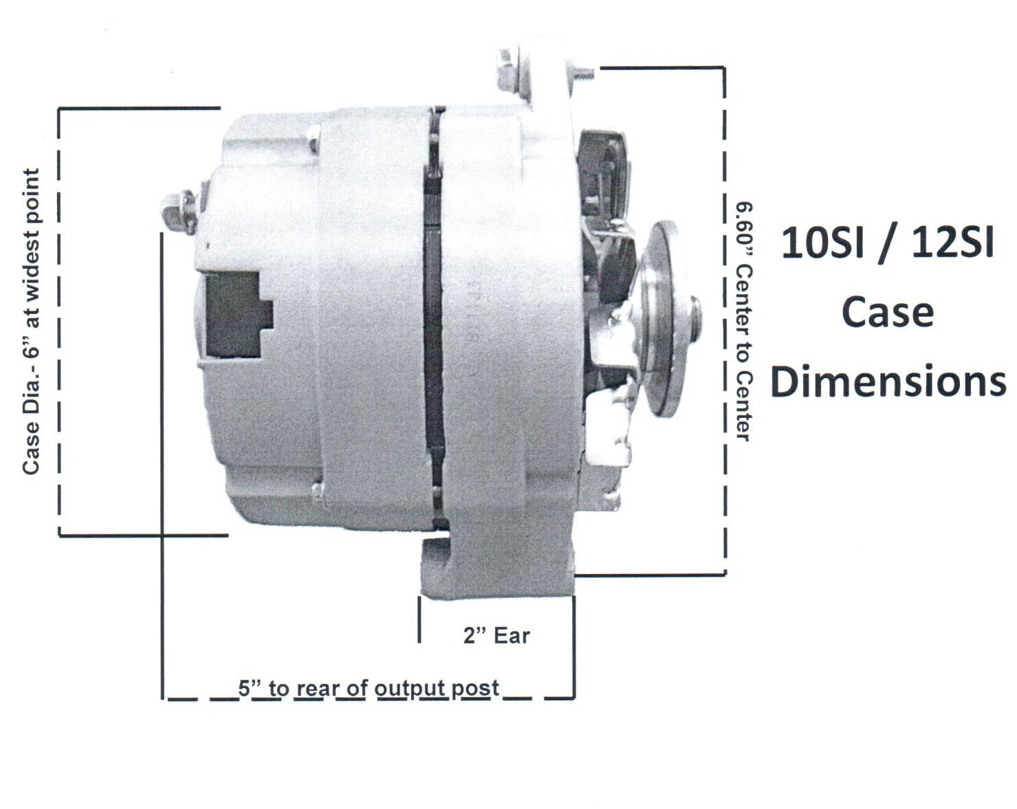 GM Alternator Picture Dimensions Specifications