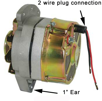 Alternator Marine Applications 10SI Replacement 2-Wire