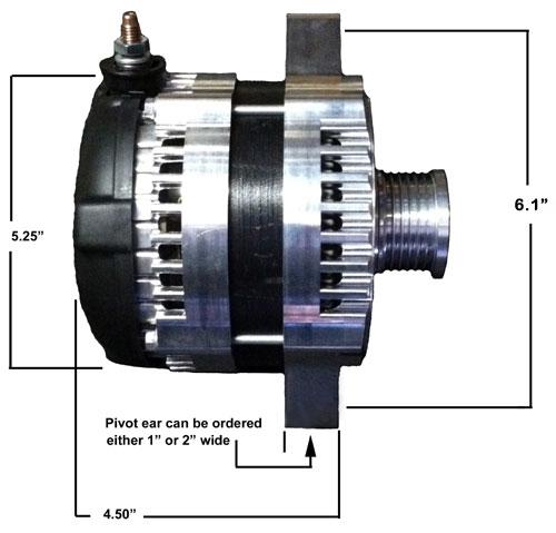 High Output Alternator for March brackets