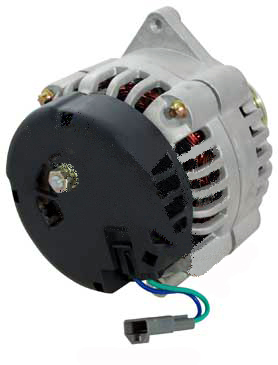 gm high output csd wire high amp alternator side view front view cs 130d direct replacement for delco 10si 12si